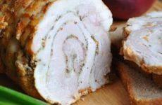 Аппетитная закуска или как сделать свиной рулет в домашних условиях из пузанины