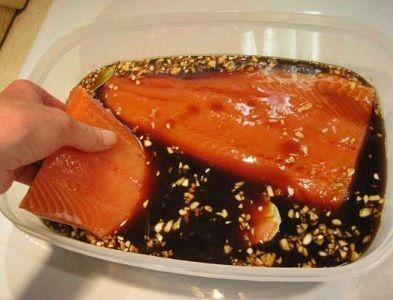 как замариновать этим маринадом рыбу для копчения в домашней коптильне