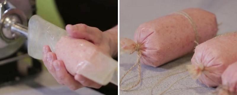 домашняя вареная колбаса из курицы